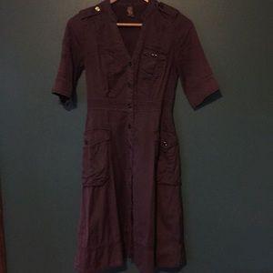 EUC Anthro/ Maeve Mary cargo/utility shirtdress, 0